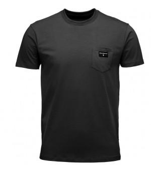 Black Diamond Pocket Label Tee Black tričko