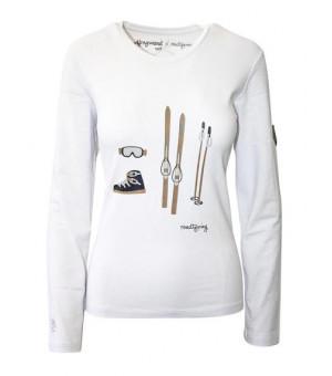 Almgwand Roteralm White W tričko