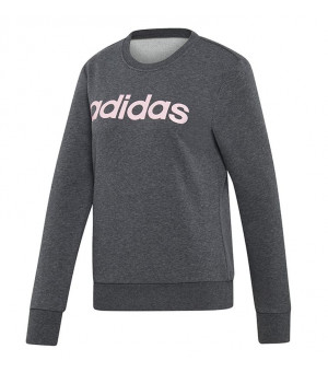 Adidas Essentials Linear Sweat mikina sivá
