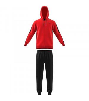 Adidas MTS Lin FT Hood súprava červenočierna