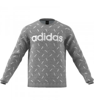Adidas M All Over Print Sweatshirt mikina sivá