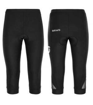 Briko Classic W Black 3/4 cyklistické nohavice