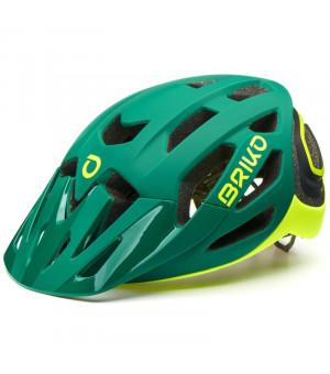 Briko Sismic Green Yellow cyklistická prilba 2019
