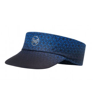 BUFF PACK RUN VISOR PATTERNED R-EQUILATERAL CAPE BLUE