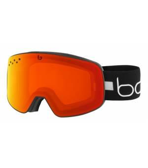 Bolle Nevada Matte Black Line Photochromic Fire Red lyžiarske okuliare
