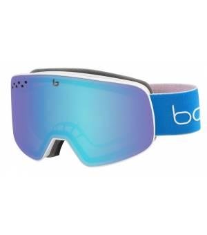 Bolle Nevada Matte White & Blue Race Aurora lyžiarske okuliare