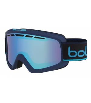Bolle Nova II Matte Navy & Neon Blue Aurora lyžiarske okuliare