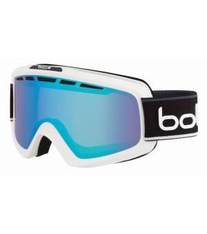 Bolle Nova II Matte White & Black Neon Polarized Aurora lyžiarske okuliare