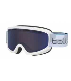 Bolle Schuss Matte White Bronze Blue lyžiarske okuliare