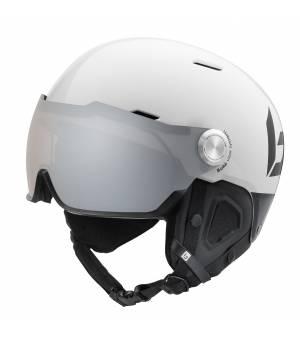 Bollé Might Visor Premium Shiny White Black Photochromic Lens 55-59 cm prilba