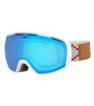 Bolle Laika Matte White Etnic Phantom Vermillon Blue lyžiarske okuliare