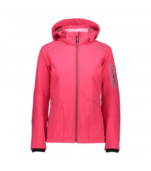 CMP WOMAN ZIP HOOD SOFTSHELL BUNDA 16BH RUŽOVÁ