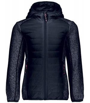CMP GIRL JACKET FIX HOOD HYBRID MIKINA