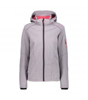 CMP WOMAN ZIP HOOD SOFTSHELL BUNDA 12BL SIVÁ
