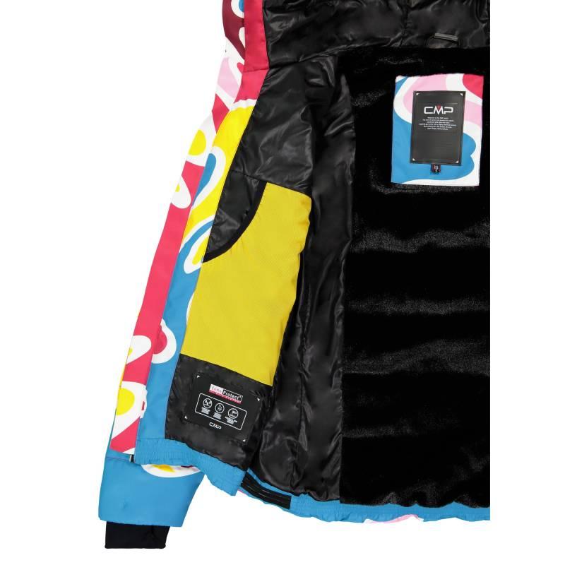 b94478a91dc6 Dámska lyžiarska bunda CMP ZIP HOOD s farebným motívom