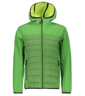 CMP Boy Jacket Fix Hood Hybrid chlapčenská bunda zelená E626