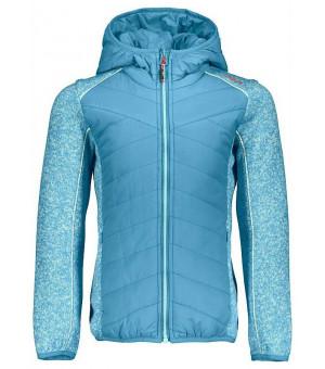 CMP Girl Jacket Hybrid Fix Hood mikina dievčenská modrá L609