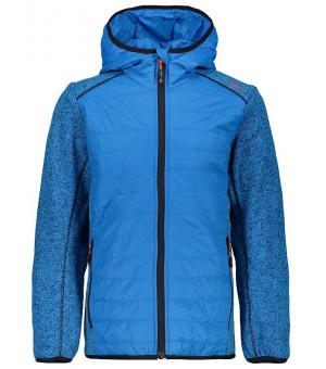 CMP Boy Jacket Hybrid Fix Hood mikina chlapčenská modrá M885