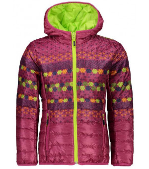 CMP Girl Jacket Fix Hood dievčenská bunda vzorovaná 14HC