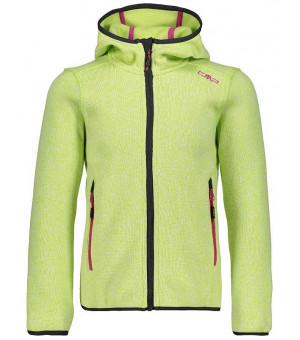 CMP Girl Jacket Fix Hood mikina 30EC zelená