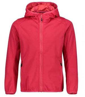 CMP Girl Jacket Fix Hood softshellová bunda C83 koralovočervená