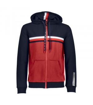 CMP Man Jacket Fix Hood Mikina 46CC červená