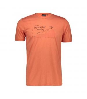 CMP Man T-Shirt tričko C742 oranžové