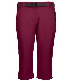 CMP Woman Capri turistické nohavice bordové