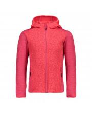 CMP Girl Jacket Fix Hood Mikina C712 červená