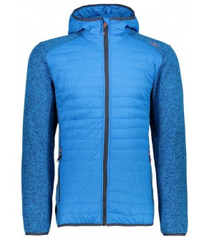 CMP Man Jacket Fix Hood Hybrid bunda modrá M 885