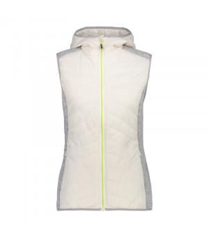 CMP Woman Vest Fix Hood Hybrid A145 sivá