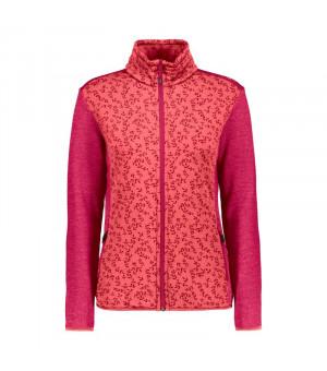 CMP Woman Jacket Mikina C712 červená