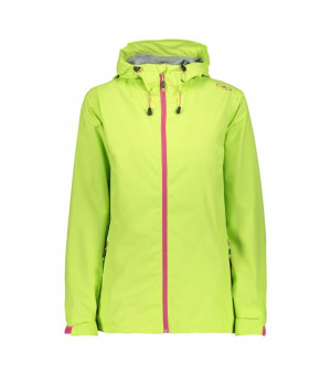 CMP Woman Rain Jacket Fix Hood Bunda E358 zelená