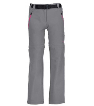 CMP Girl Pant Zip Off nohavice U739 sivé