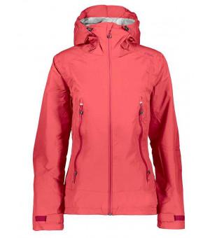 CMP Woman Jacket Fix Hood bunda C712 červená