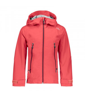 CMP Girl Jacket Fix Hood Bunda C712 červená