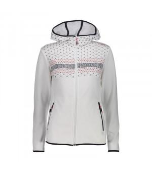 CMP Woman Jacket Fix Hood Mikina A001 biela
