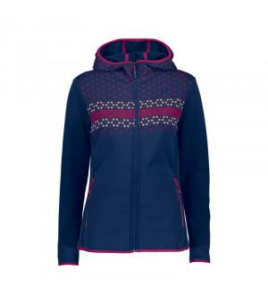 CMP Woman Jacket Fix Hood Mikina M919 modrá