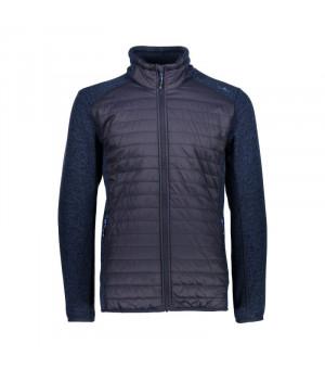 CMP Man Jacket Hybrid Mikina N950 modrá