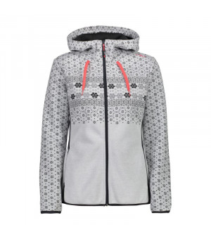 CMP Woman Jacket Fix Hood Mikina U510 sivá