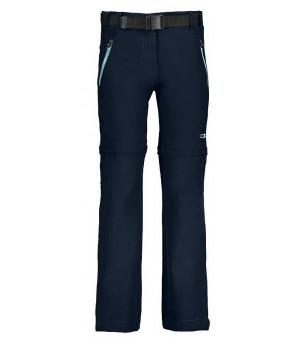 CMP Girl Pant Zip Off nohavice 13NC modré