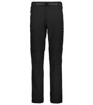 CMP Man Pant Zip Off nohavice U901 čierne