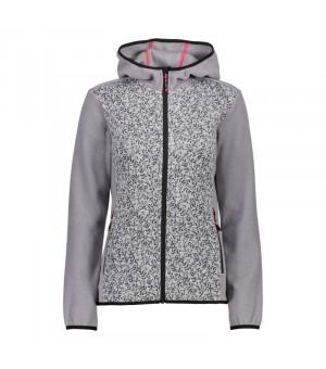CMP Woman Jacket Fix Hood Mikina 18XC sivá