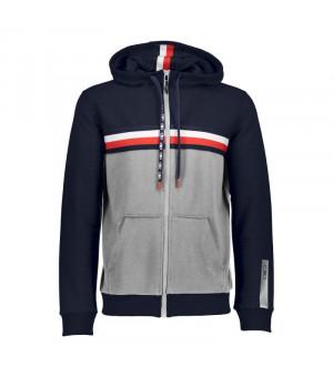 CMP Man Jacket Fix Hood Mikina 17NC sivá