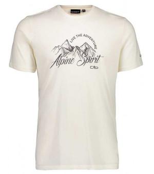 CMP Man T-Shirt tričko A137 biele