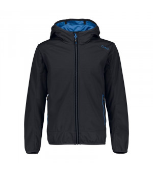 CMP Boy Jacket Fix Hood Bunda U423 sivá