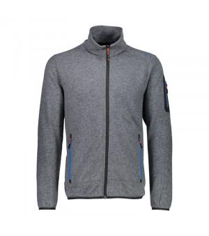 CMP Man Jacket Mikina 05XC sivá