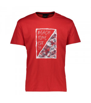 CMP Man T-Shirt Tričko C875 červené