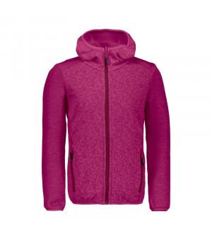 CMP Girl Jacket Fix Hood Mikina H820 ružová
