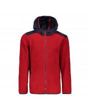 CMP Boy Jacket Fix Hood Mikina 21 CC červená